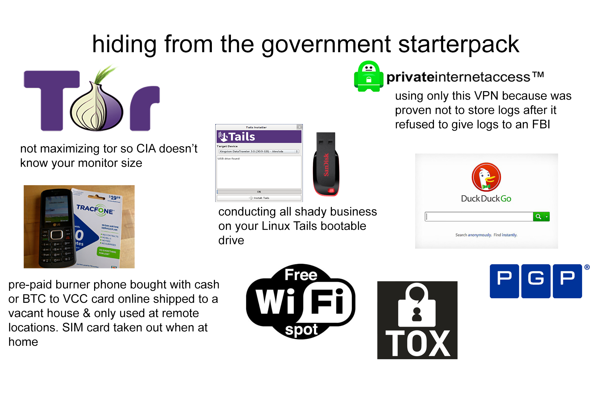 Hiding from the government starterpack